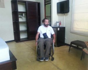 Hotel admits people with physical limitations